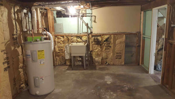 water heater before small